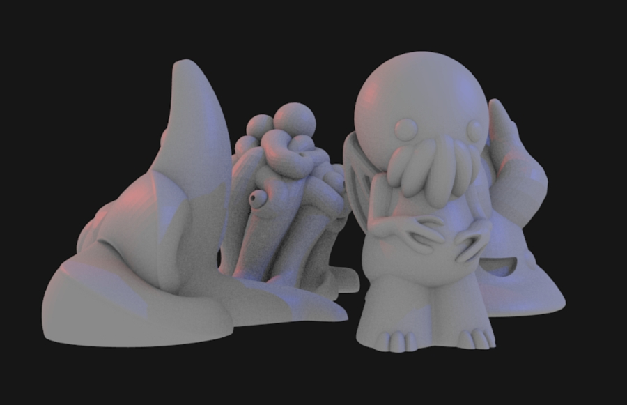 Cute Lovecraft Inspired Pawns