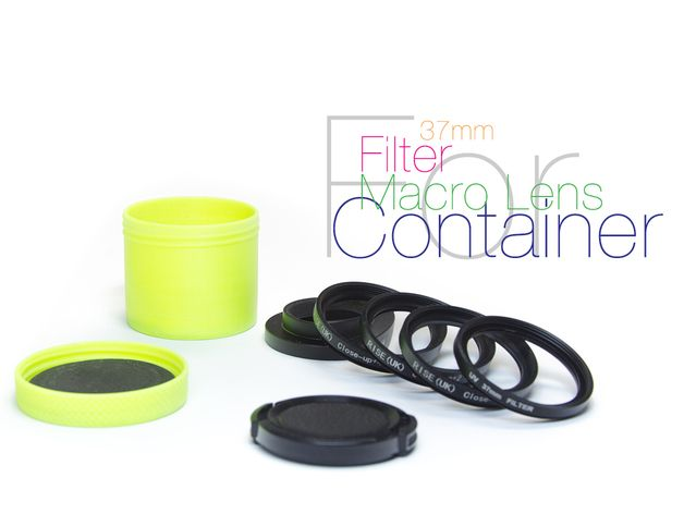 Container for lens and filters