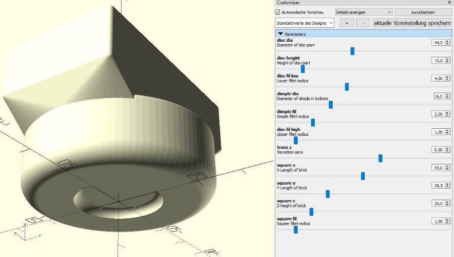 Jackpad for BMWs, customizable in OpenSCAD