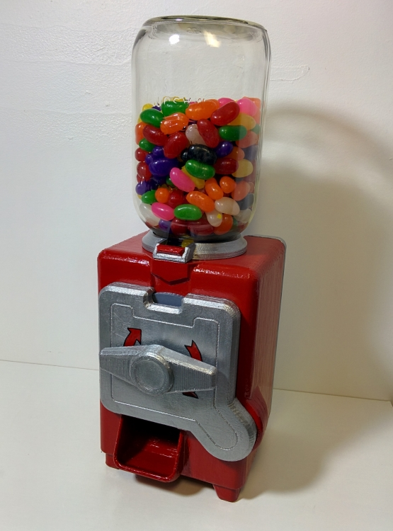 3D Printed Gumball Machine Repaired Using Wood Filler