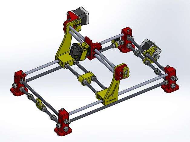 3dpBurner. Open source 3D printed laser cutter/engraver