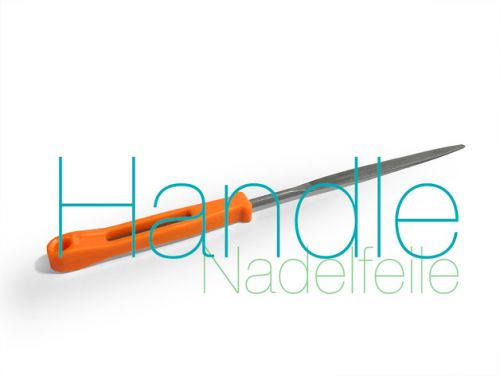 Nadelfeile Handle